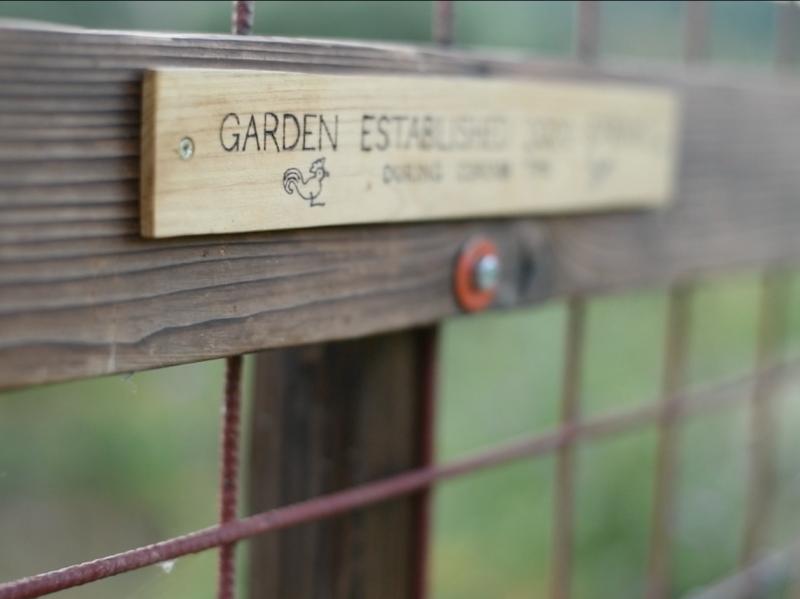 garden gate wood detail handcrafted